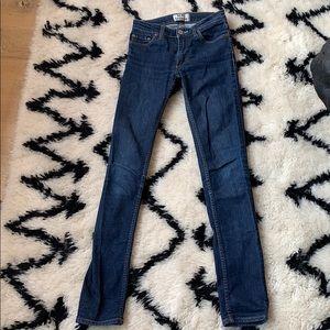 Acne studios flex S raw denim faded jeans 25/32